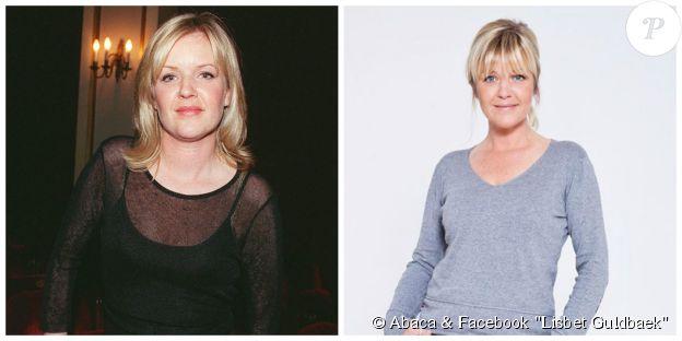 Lisbet Guldbaek en 2000 (à g., ©Abaca) et en 2014 (à d., ©Facebook Lisbet Guldbaek)
