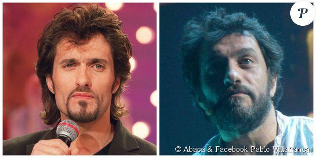 Pablo Villafranca en 2000 (à g., ©Abaca) et en 2014 (à d., Facebook Pablo Villafranca)