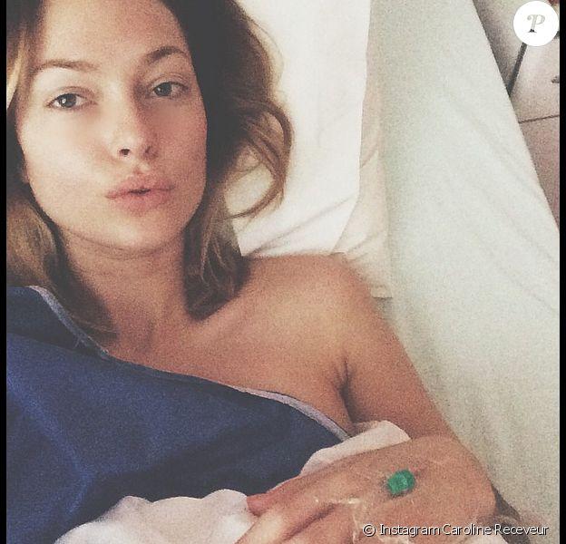 Caroline Receveur à l'hôpital le 10 janveir 2015.