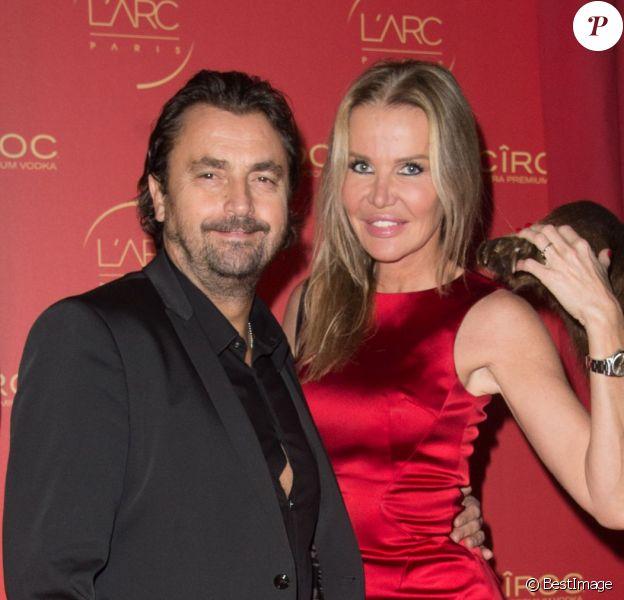 Henri Leconte et sa femme Florentine participent aux célébrations du Nouvel An russe à l'Arc, à Paris, le 9 janvier 2015.