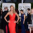 Heidi Klum (en Atelier Versace) aux Golden Globe Awards 2015.