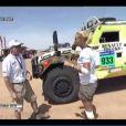 Elodie Gossuin, après sa chute en direct pendant le Dakar en 2011.