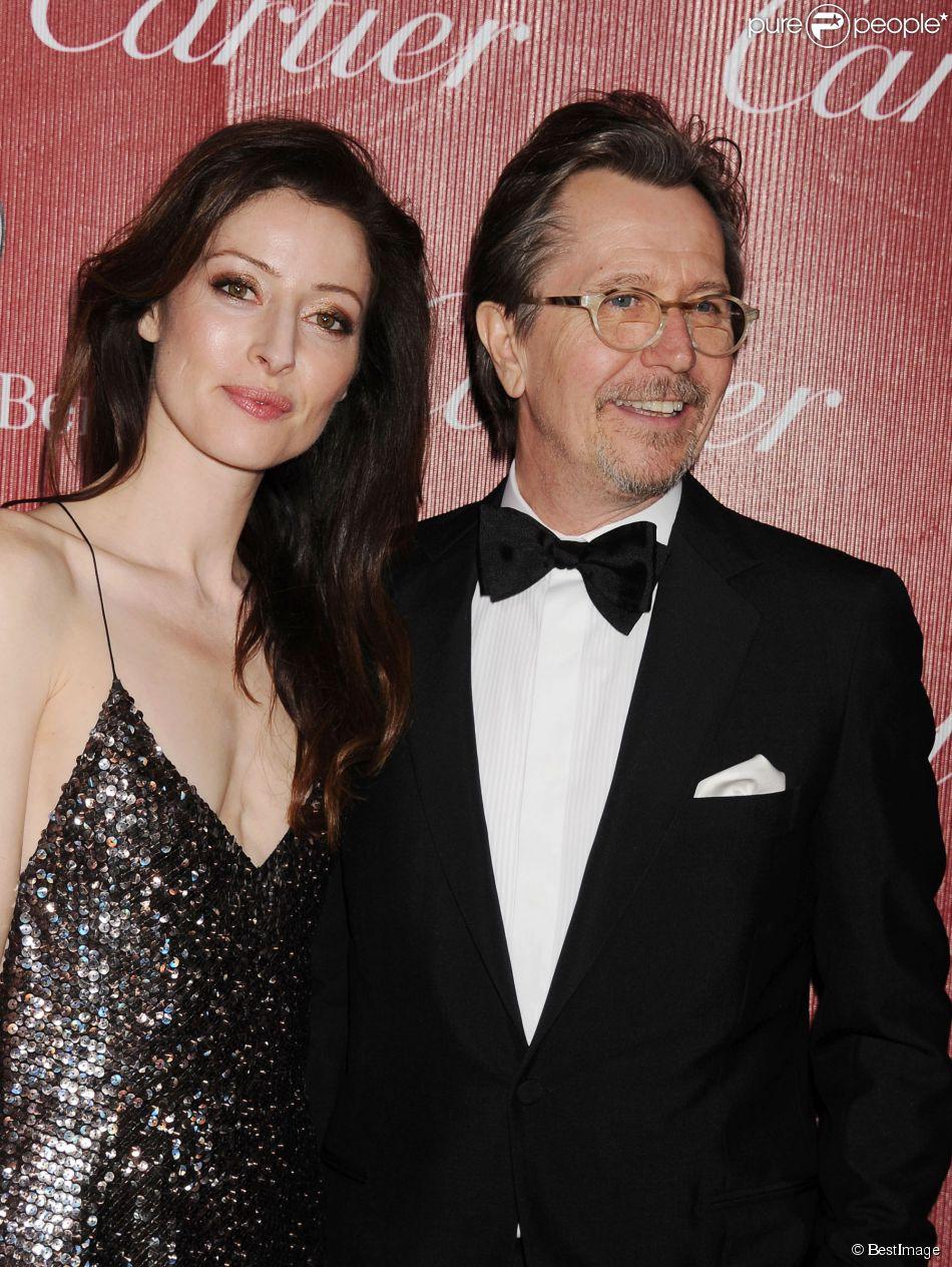 Gary Oldman et Alexandra Edenborough à la Soirée de gala pour la 25e édition du festival international du film de Palm Springs. Le 4 janvier 2014