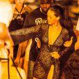 Exclusif - Rihanna, très sexy, se rend à une soirée sur un yacht à Saint-Barthélémy, le 29 décembre 2014.