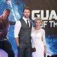 Chris Hemsworth et Elsa Pataky à la Première de «Guardians of the Galaxy» à Londres, le 24 juillet 2014