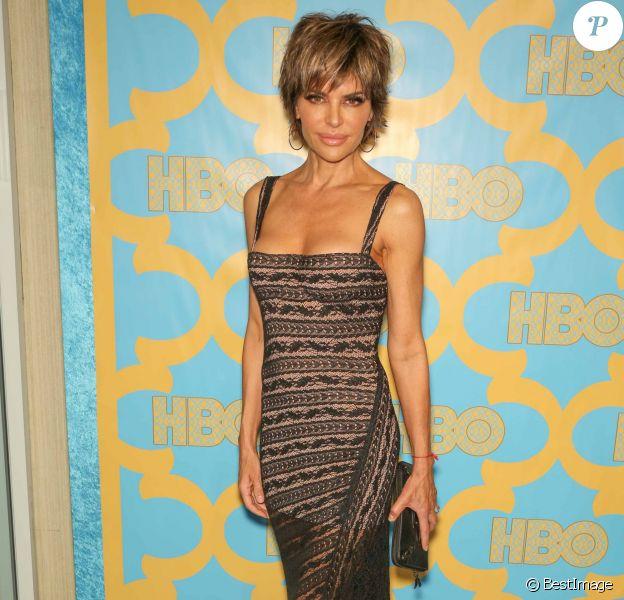 """Lisa Rinna à la soirée """"HBO Golden Globes"""" à Beverly Hills. Le 11 janvier 2015"""