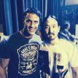 Greg Plitt à Las Vegas avec le DJ Steve Aoki, en septembre 2014.