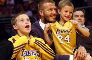 PHOTOS : Un convoi présidentiel ? Non, simplement David Beckham et ses fils !
