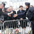 """Bill de Blasio, le maire de New York, est allé se recueillir devant le supermarché """"Hyper Cacher"""" porte de Vincennes, où a eu lieu la prise d'otages à la suite de l'attentat de Charlie le 9 janvier. Paris, le 20 janvier 2015"""