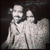 Amel Bent et Emmanuel Moire : Tendre câlin dans les coulisses des Enfoirés