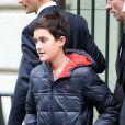 René-Charles, le fils aîné de Céline Dion, sort de son hôtel parisien, le 12 novembre 2013