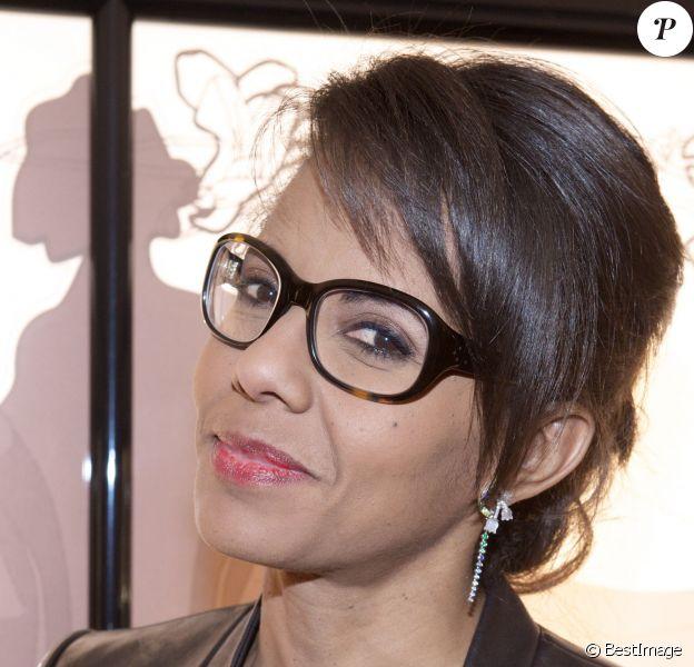 Exclusif - Audrey Pulvar - Inauguration privée de la nouvelle boutique Lalique Joaillerie à Paris. Le 8 juillet 2014.