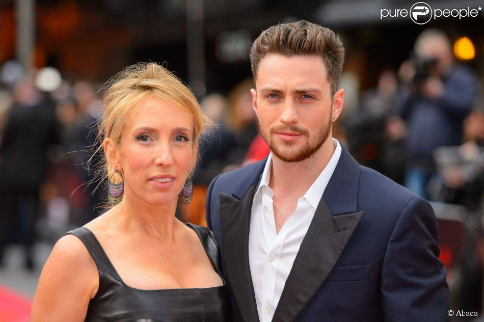 Sam Taylor-Wood et son mari Aaron Taylor-Johnson à Londres le 11 mai 2014.