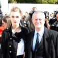 Francis Huster et Gaia Weiss au défilé de mode Dior pret-a-porter printemps-été 2013 Paris, le 28 septembre 2012