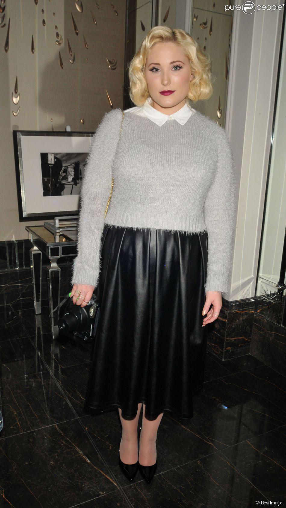 """Hayley Hasselhoff (La fille de David Hasselhoff) au Vernissage de l'exposition de photographies de Marilyn Monroe """"Cocktails with Marilyn"""" à Londres. Le 20 février 2014"""