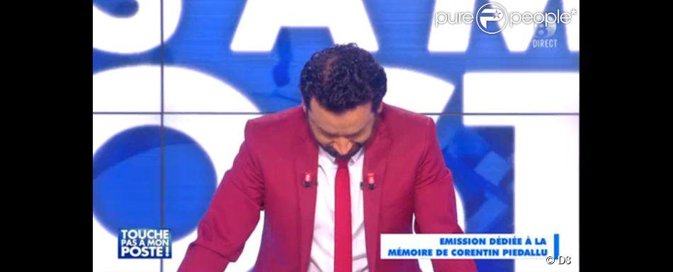 Cyril Hanouna, en larmes sur le plateau de Touche pas à mon poste sur D8, le lundi 2 février 2015.