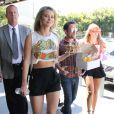 Kim Matula, Linsey Godfrey - Les acteurs de la série  Amour, Gloire et Beauté  rencontrent leurs fans à Los Angeles. Août 2013.