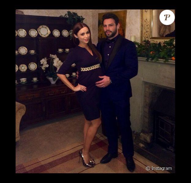 Una Foden enceinte de son deuxième enfant, le 31 décembre 2014