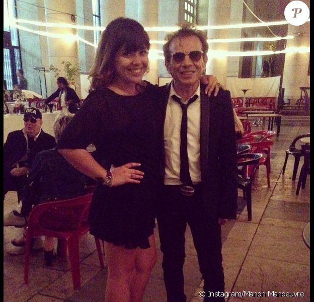 Manon Manoeuvre et son père Philippe, photo publiée sur son compte Instagram le 20 juin 2014