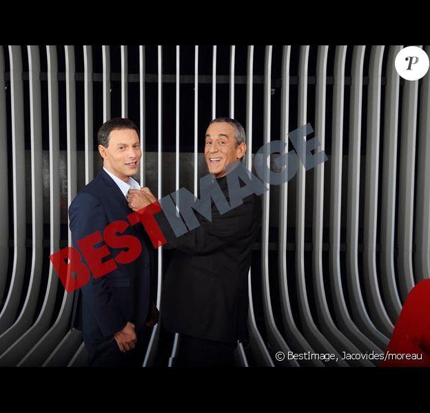 Exclusif : Thierry Ardisson et Marc-Olivier Fogiel sur le plateau du Divan qui sera diffusé sur france 3 le 10 février 2015.
