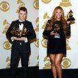 Sam Smith et Beyoncé ont triomphé lors de la 57e édition des Grammy Awards, le 8 février 2015 à Los Angeles.