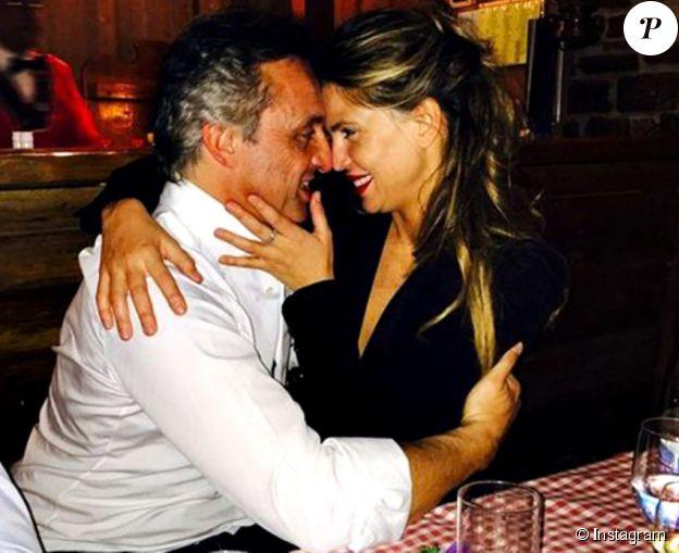 Claudia Galanti et Tommaso Buti lors d'une fête d'anniversaire