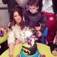 Claudia Galanti (ici lors de l'anniversaire de son fils Liam) et son ex-compagnon Arnaud Mimran ont été confrontés à la mort de leur fille Indila, leur troisième enfant, dans la nuit du 2 au 3 décembre 2014... Photo Instagram.