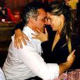 Claudia Galanti avec son nouvel amoureux, Tommaso Buti, à Gstaad en janvier 2015. Le top paraguayen retrouve le sourire après la mort de sa fille, Indila, 9 mois, dans la nuit du 2 au 3 décembre 2014. Photo Instagram.