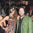 Claudia Galanti, enceinte d'Indila, et Arnaud Mimran lors de la soirée Disco Africa à Milan, le 27 octobre 2013.