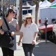 Drew Barrymore et Will Kopelman ont emmené leur petite fille Olive à Farmer's market, le 25 janvier 2015