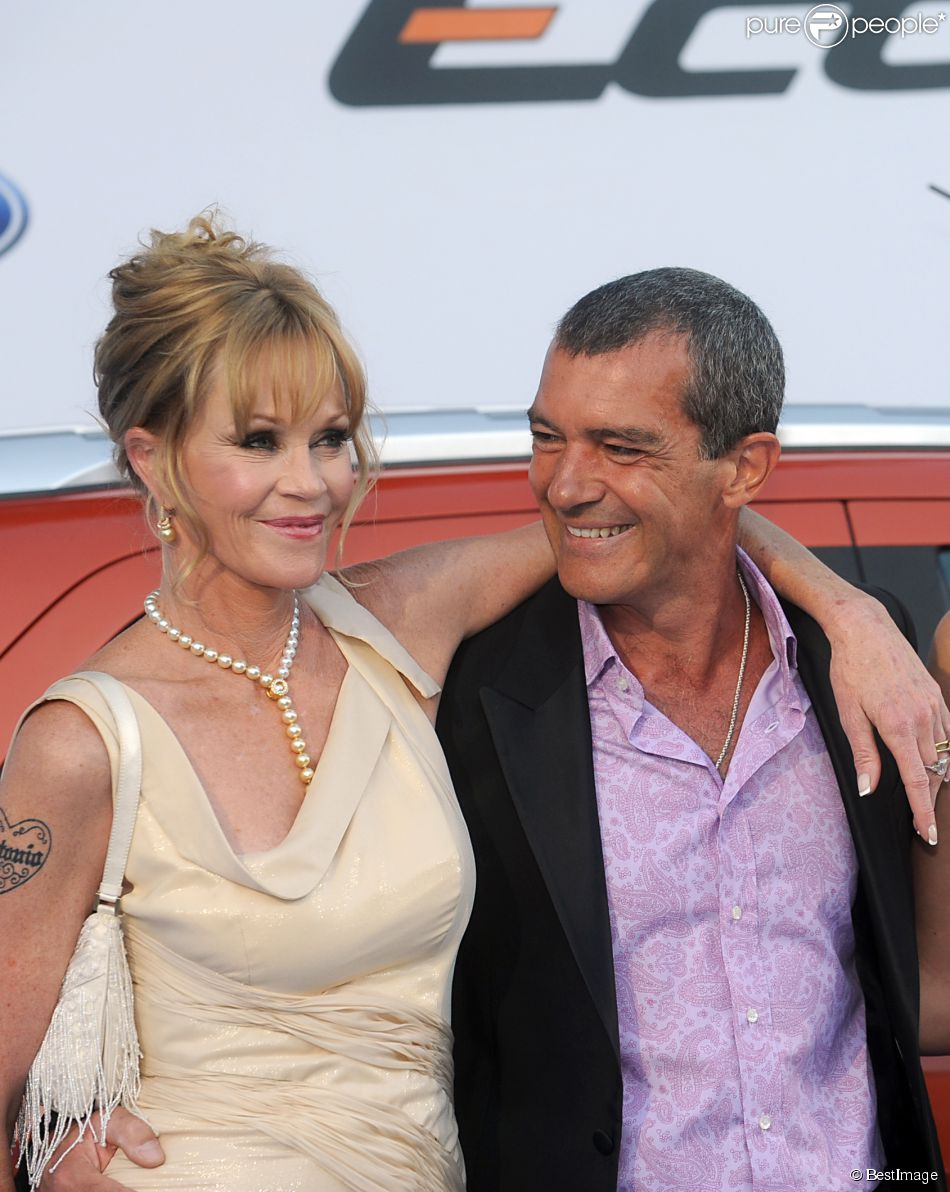 Melanie Griffith, Antonio Banderas à Marbella, le 10 août 2013.