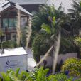 """""""Pierce Brosnan a egagé une entreprise pour rénover son garade incendié, à Mlaibu, le 18 février 2015"""""""