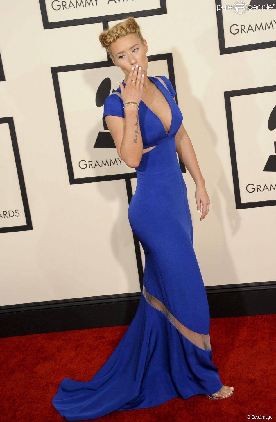 Iggy Azalea à la 57ème soirée annuelle des Grammy Awards au Staples Center à Los Angeles, le 8 février 2015.