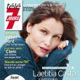 Laetitia Casta en couverture du magazine Télé 7 jours du 28 février