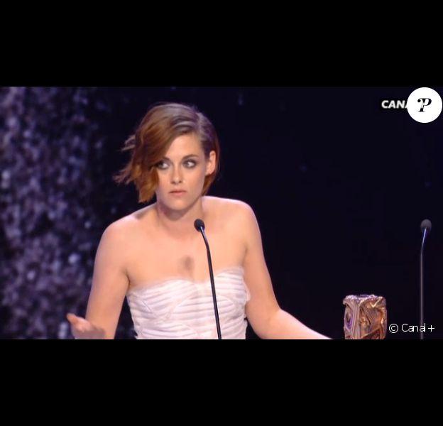 Kristen Stewart obtient le César de la meilleure actrice dans un second rôle pour Sils Maria aux César le 20 février 2015