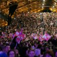 """Exclusif - Martina Stoessel, l'héroïne de la série """"Violetta"""" entamait à la Halle Tony Garnier de Lyon une série de concerts en France - Lyon, le 11 février 2015"""