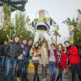 "Martina Stoessel (Violetta), Candelaria Molfese (Camila), Mercedes Lambre (Ludmila), Diego Dominguez (Diego), Facundo Gambande (Maximiliano), Ruggero Pasquarelli (Federico), Samuel Nascimento (Broduey) et Jorge Blanco (Leon) - La troupe de Violetta visite le parc d'attraction Disneyland Paris à Marne-la-Vallée le 17 février 2015.  Cast members of Tv series ""Violetta"" visiting Disneyland Paris, Marne-La-Vallee near Paris, France on February 17, 2015.17/02/2015 - Marne-la-Vallée"