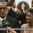 Cérémonie des Oscars - 22 février 2015 : Abderrahmane Sissako et Kessen Tall pour Tibumktu sur le tapis rouge