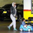 Exclusif - Amber Rose et son fils Sébastian à Los Angeles, le 22 février 2015.