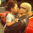 Amber Rose et son fils Sebastian. Photo publiée le 29 janvier 2015.