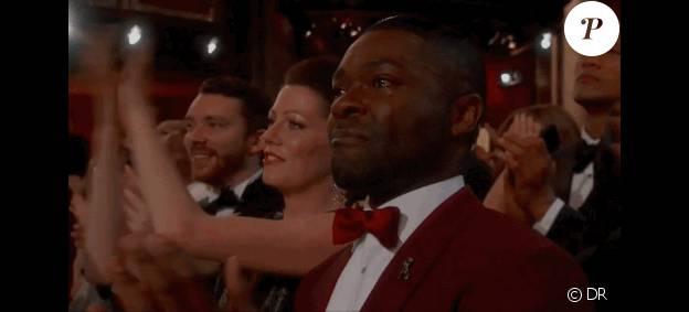 David Oyelowo en larmes après Glory, une des images fortes des Oscars 2015.