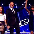 Awa Sy est sauvée par Florent Pagny dans The Voice 4 sur TF1, le samedi 28 février 2015
