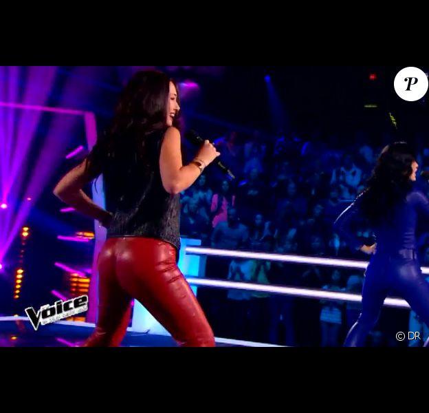 Battle entre Victoria Adamo et Diem dans The Voice 4, sur TF1, le samedi 28 février 2015
