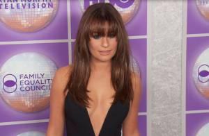 Lea Michele : Très décolletée et sexy en diable face au séduisant Matt Bomer