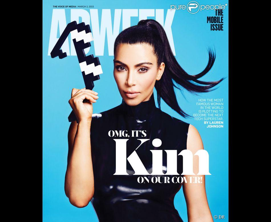 Kim Kardashian en couverture du nouveau numéro du magazine Adweek. Mars 2015.
