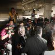Kim Kardashian arrive à l'aéroport de LAX à Los Angeles, le 27 février 2015.