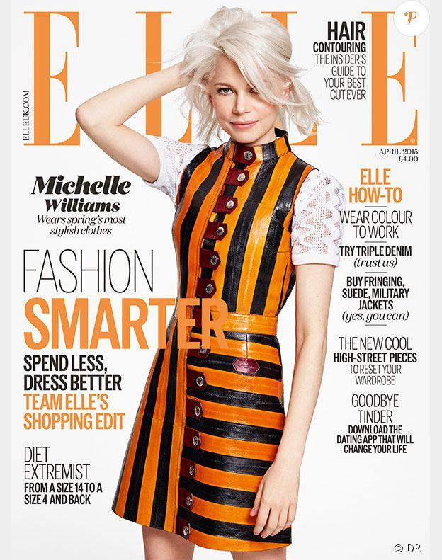 Michelle Williams en couverture du magazine Elle édition Britannique - avril 2015