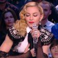 Madonna sur le plateau du Grand Journal de Canal+, le 2 mars 2015.