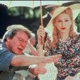 Alan Parker et Madonna sur le tournage du film Evita en 1996.