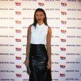Flora Coquerel (Miss France 2014) assiste au lancement du label AfrostreamVOD chez TF1 à Boulogne-Billancourt, le 4 mars 2015.